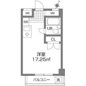 1R Mansion in Shimorenjaku - Mitaka-shi Floorplan