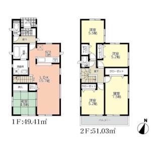 5LDK House in Yokomizo - Mizuma-gun Oki-machi Floorplan