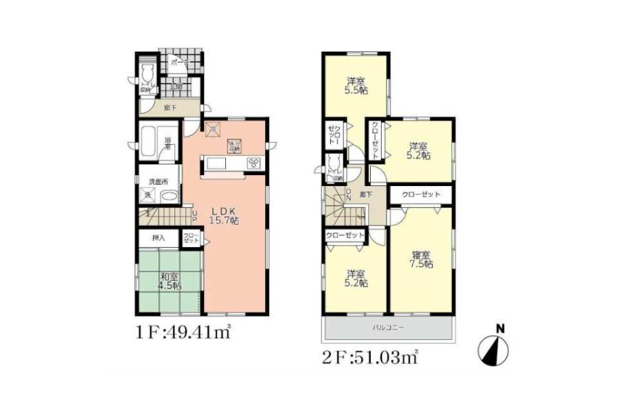 5LDK House to Buy in Mizuma-gun Oki-machi Floorplan