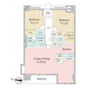3LDK Apartment in Hatagaya - Shibuya-ku Floorplan