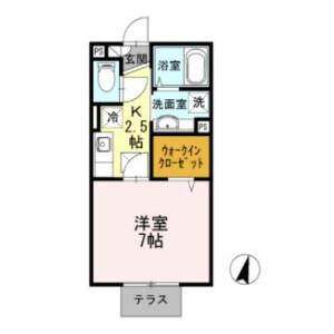 1K Apartment in Shonandai - Fujisawa-shi Floorplan