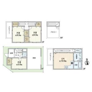 3LDK {building type} in Hannancho - Osaka-shi Abeno-ku Floorplan
