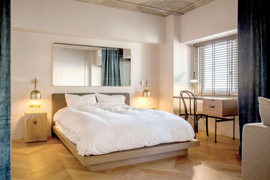 1DK Serviced Apartment to Rent in Shibuya-ku Bedroom