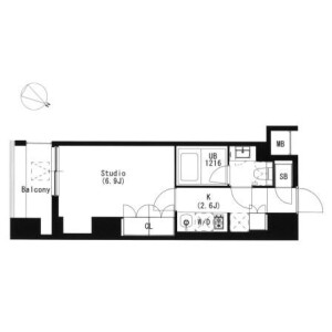 1K Mansion in Kitashinagawa(1-4-chome) - Shinagawa-ku Floorplan