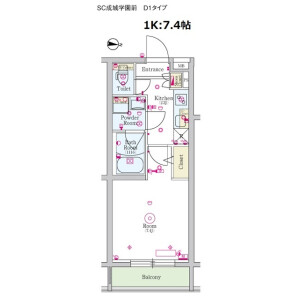 1K Mansion in Kitami - Setagaya-ku Floorplan