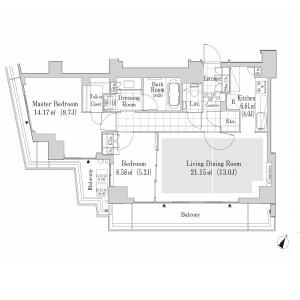澀谷區神南-2LDK公寓大廈 房間格局