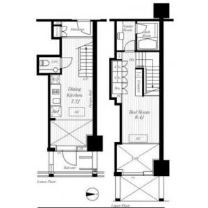 1DK Mansion in Azabujuban - Minato-ku Floorplan