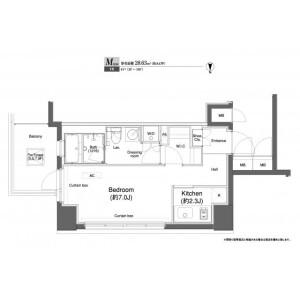 1K Mansion in Daimachi - Yokohama-shi Kanagawa-ku Floorplan