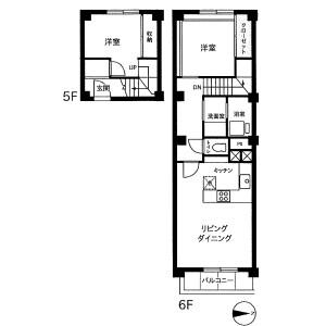2LDK Mansion in Ebisuminami - Shibuya-ku Floorplan