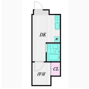 1DK Apartment in Nishiogikita - Suginami-ku Floorplan
