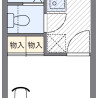 在小平市內租賃1K 公寓 的房產 房間格局