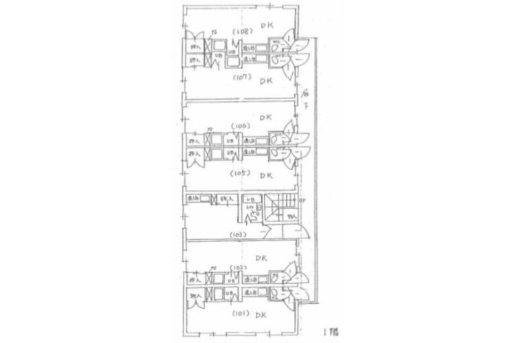 Whole Building Apartment to Buy in Sapporo-shi Toyohira-ku Floorplan