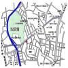 在港区内租赁1LDK 公寓大厦 的 地图