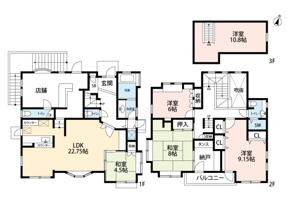 5LDK House to Buy in Kawasaki-shi Miyamae-ku Floorplan