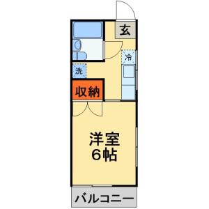 1K Apartment in Nishihara - Kashiwa-shi Floorplan