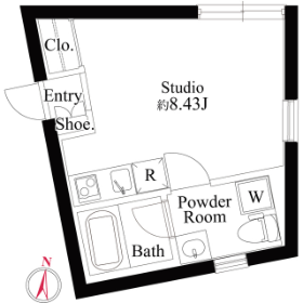 1R Mansion in Sangenjaya - Setagaya-ku Floorplan