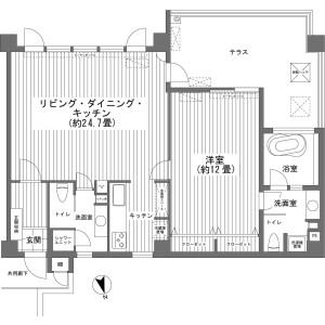 1LDK {building type} in Yohena - Nago-shi Floorplan