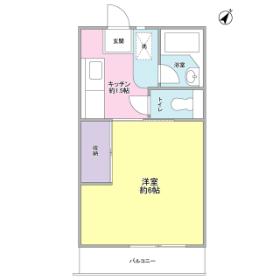 1K Mansion in Kurosunadai - Chiba-shi Inage-ku Floorplan