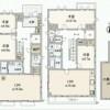 在世田谷区购买5SLDK 独栋住宅的 楼层布局