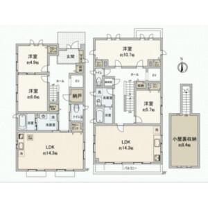 世田谷区奥沢-5SLDK{building type} 楼层布局