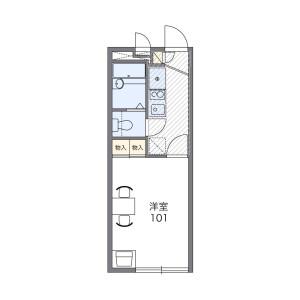 1K Apartment in Terukuni - Fukuoka-shi Chuo-ku Floorplan
