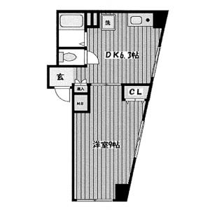 1DK Mansion in Fussa - Fussa-shi Floorplan