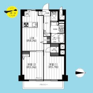 2LDK {building type} in Koyama - Nerima-ku Floorplan