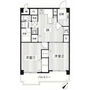 2DK {building type} in Kakemama - Ichikawa-shi Floorplan
