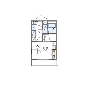 1K Apartment in Motogo - Kawaguchi-shi Floorplan