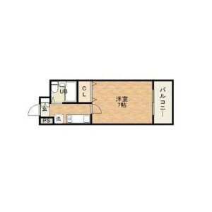 1K Apartment in Nakamichi - Osaka-shi Higashinari-ku Floorplan