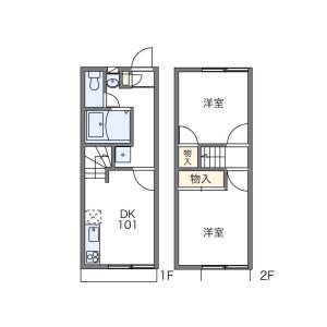 八尾市 曙川東 2DK アパート 間取り