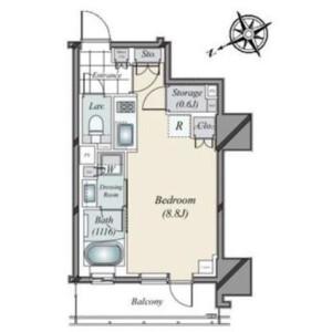 1R {building type} in Nishishimbashi - Minato-ku Floorplan