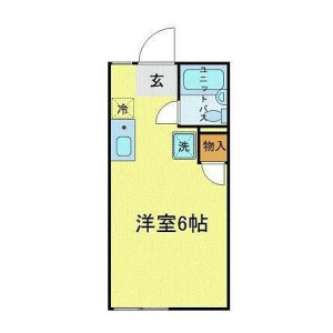 1R Apartment in Komazawa - Setagaya-ku Floorplan