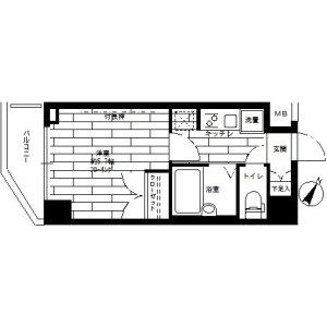 1K Mansion in Nakacho - Meguro-ku Floorplan