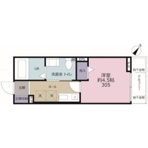1K Apartment in Owadashinden - Yachiyo-shi Floorplan