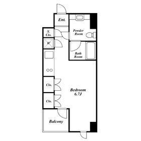 1R Apartment in Shiba(4.5-chome) - Minato-ku Floorplan