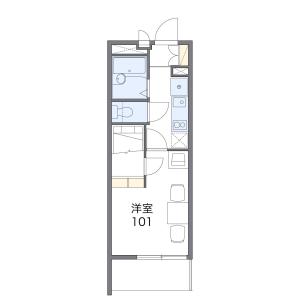 1K Mansion in Kotabe - Fukuoka-shi Sawara-ku Floorplan