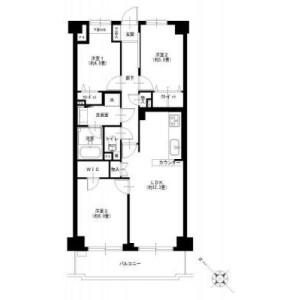 3LDK {building type} in Kyoshincho - Yokohama-shi Minami-ku Floorplan