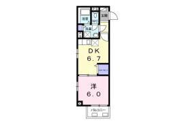 目黒區中央町-1DK公寓大廈