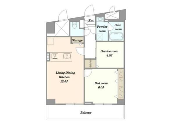1SLDK Apartment to Buy in Shinjuku-ku Floorplan
