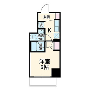 1K Mansion in Sueyoshicho - Yokohama-shi Naka-ku Floorplan