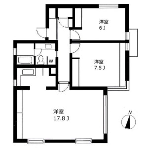 2LDK Mansion in Kamiosaki - Shinagawa-ku Floorplan