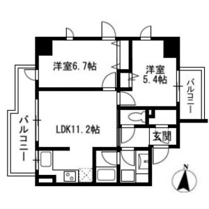 2LDK Apartment in Hommachinishi - Saitama-shi Chuo-ku Floorplan