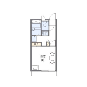 1K Apartment in Shinden - Adachi-ku Floorplan