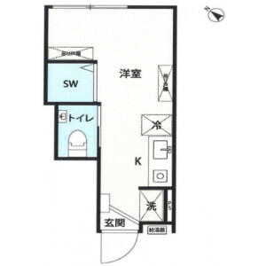 1R Apartment in Nishioi - Shinagawa-ku Floorplan