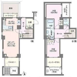 2LDK Apartment in Yoyogi - Shibuya-ku Floorplan