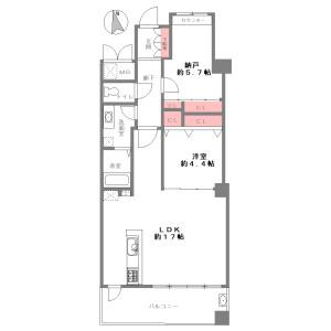 1SLDK {building type} in Sugimoto - Osaka-shi Sumiyoshi-ku Floorplan