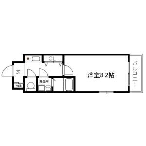 1K {building type} in Kajicho - Kyoto-shi Nakagyo-ku Floorplan
