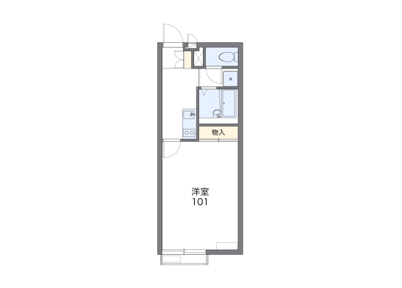 1K Apartment to Rent in Kasukabe-shi Floorplan