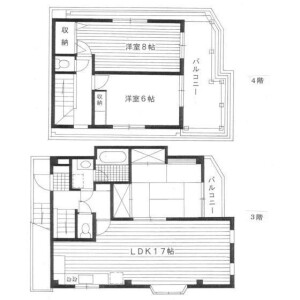 3LDK House in Ebisuminami - Shibuya-ku Floorplan